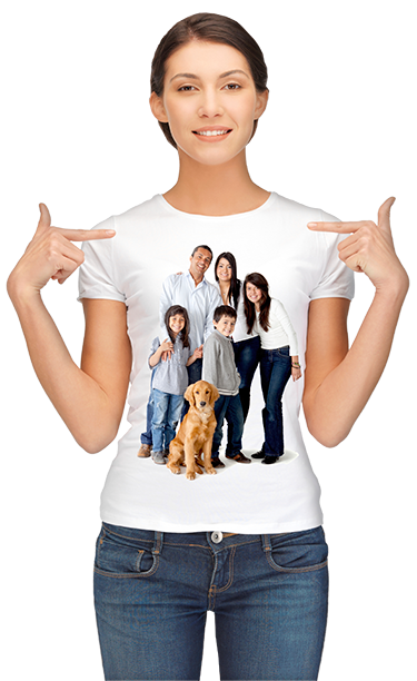 Custom t shirts design and order your t shirts online for Photo printing on t shirts