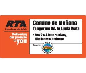 RTA Construction Sign