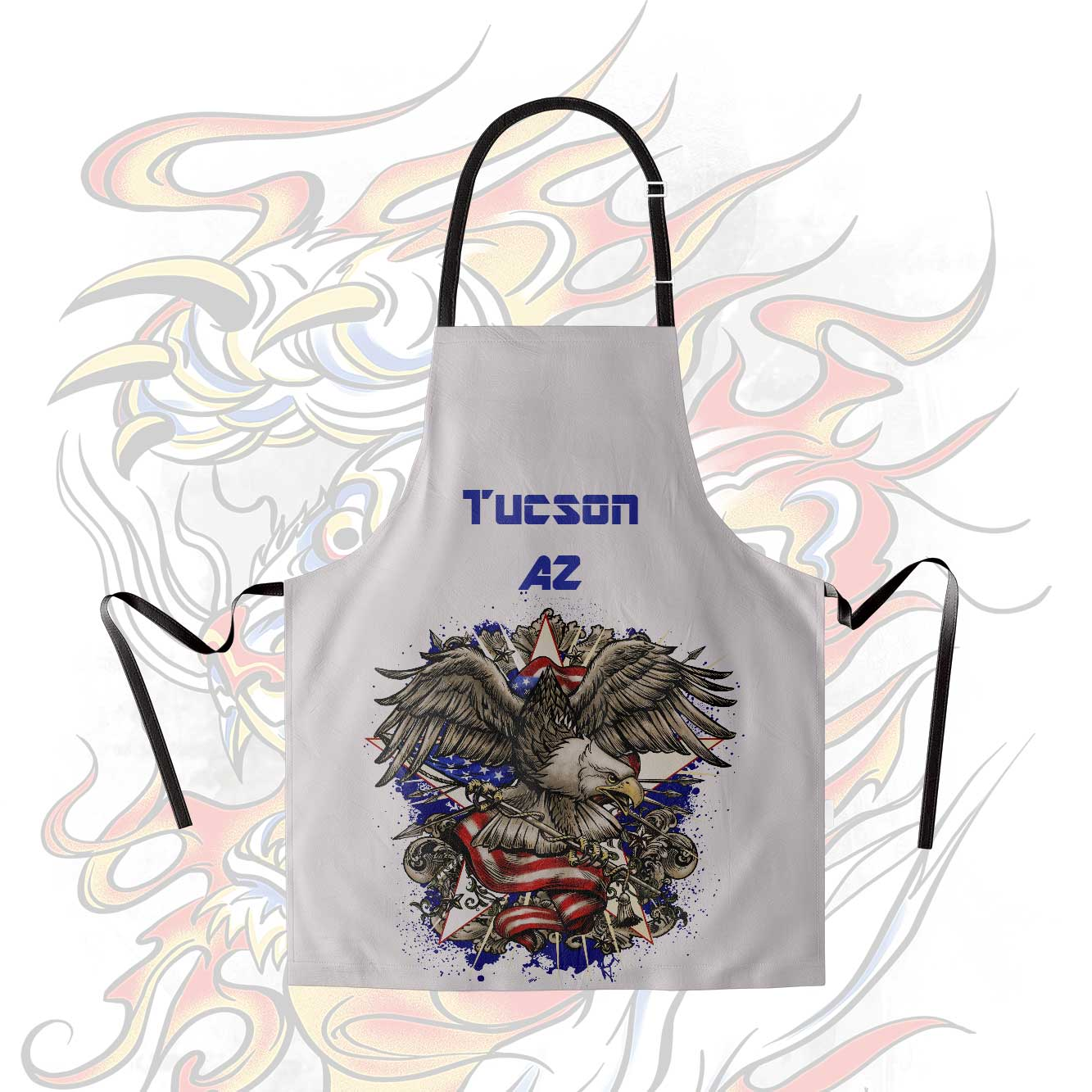 Personalized aprons full color no minimum for Custom shirt embroidery no minimum