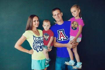 Matching Color of Shirts for the Entire Family