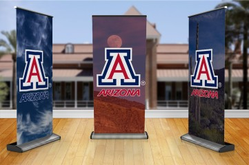 University of Arizona Pull Up Banners and Stands, Completely Portable