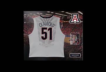 University of Arizona Framed Jerseys for Seniors. No Ordinary Framing Here!